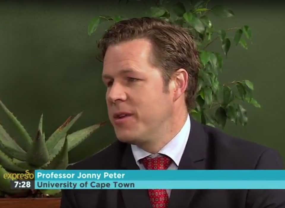 Interview with Ass. Prof Jonny Peter on SABC Expresso