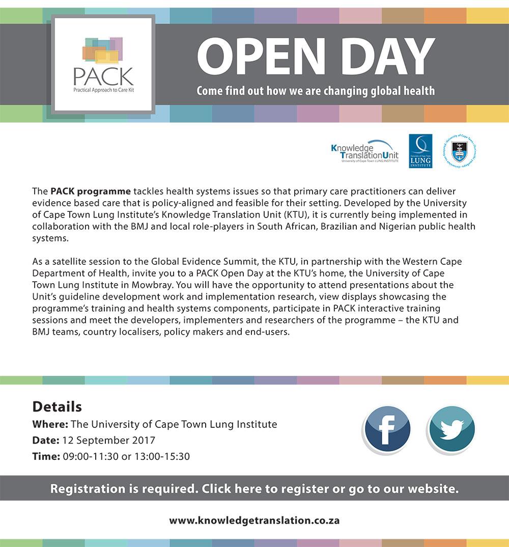 PACK Open Day 12 September 2017