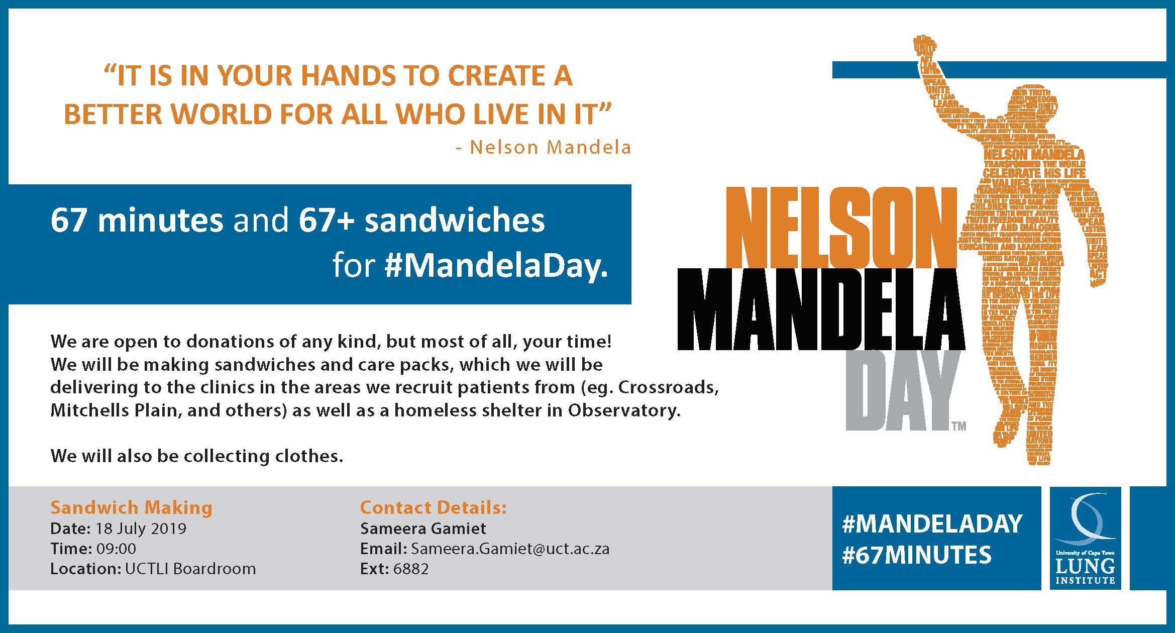 UCTLI Mandela Day 2019 Poster